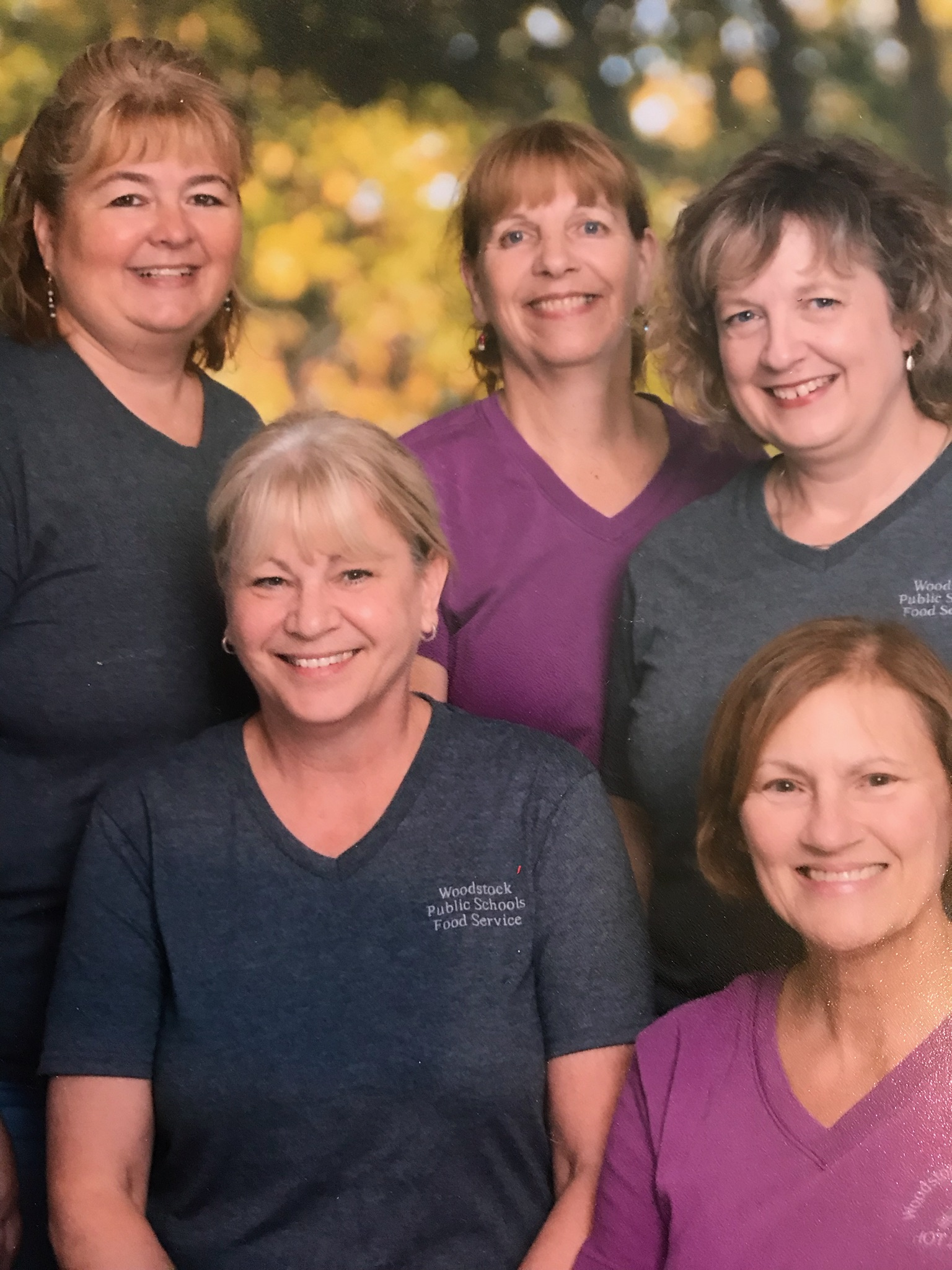 Photo of the Cafeteria Staff.