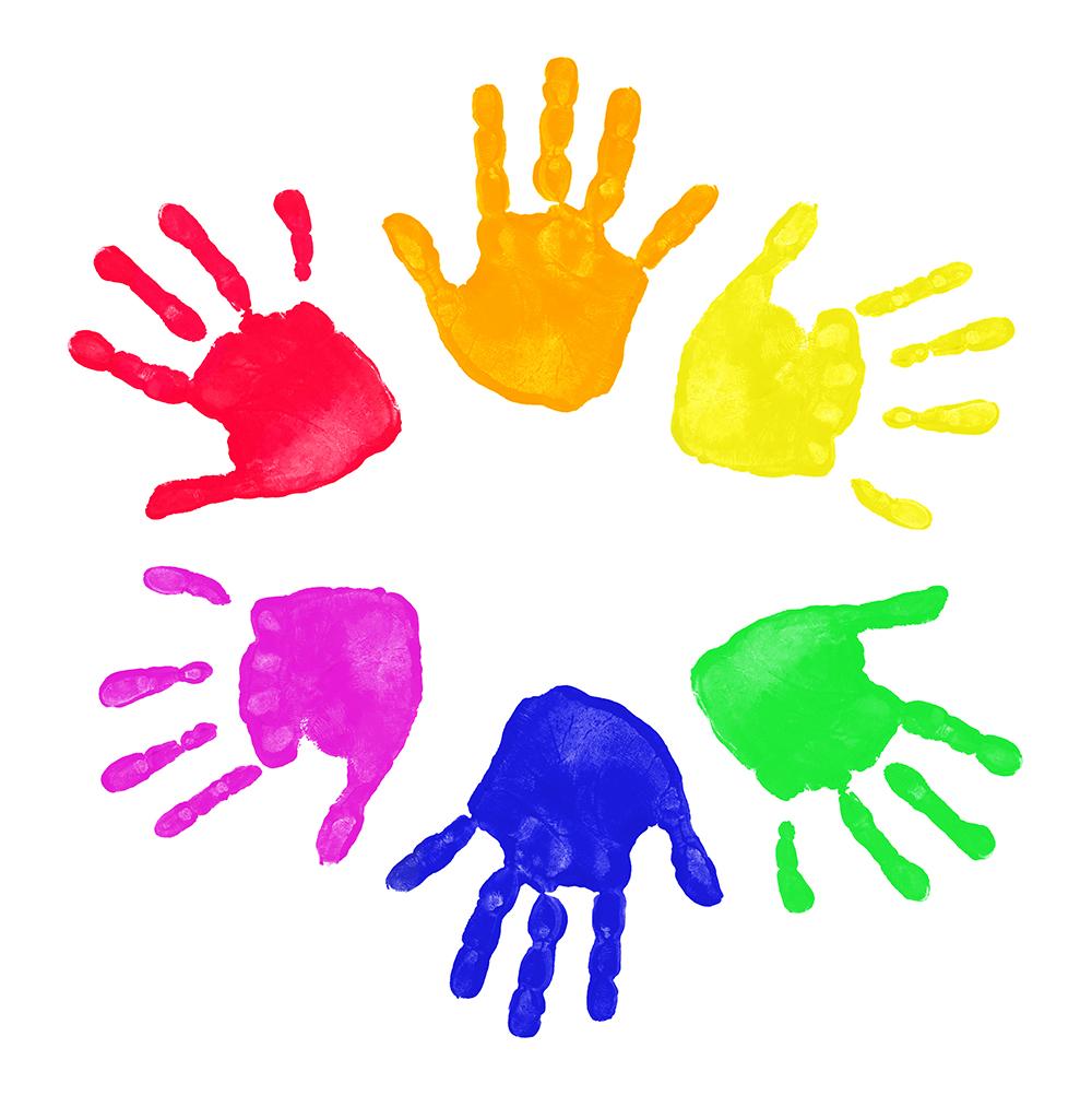 Kids Handprint Clipart Clipart Panda Free Clipart Images