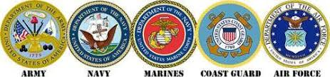 Army Navy Marines Cost Guard Air Force Logos