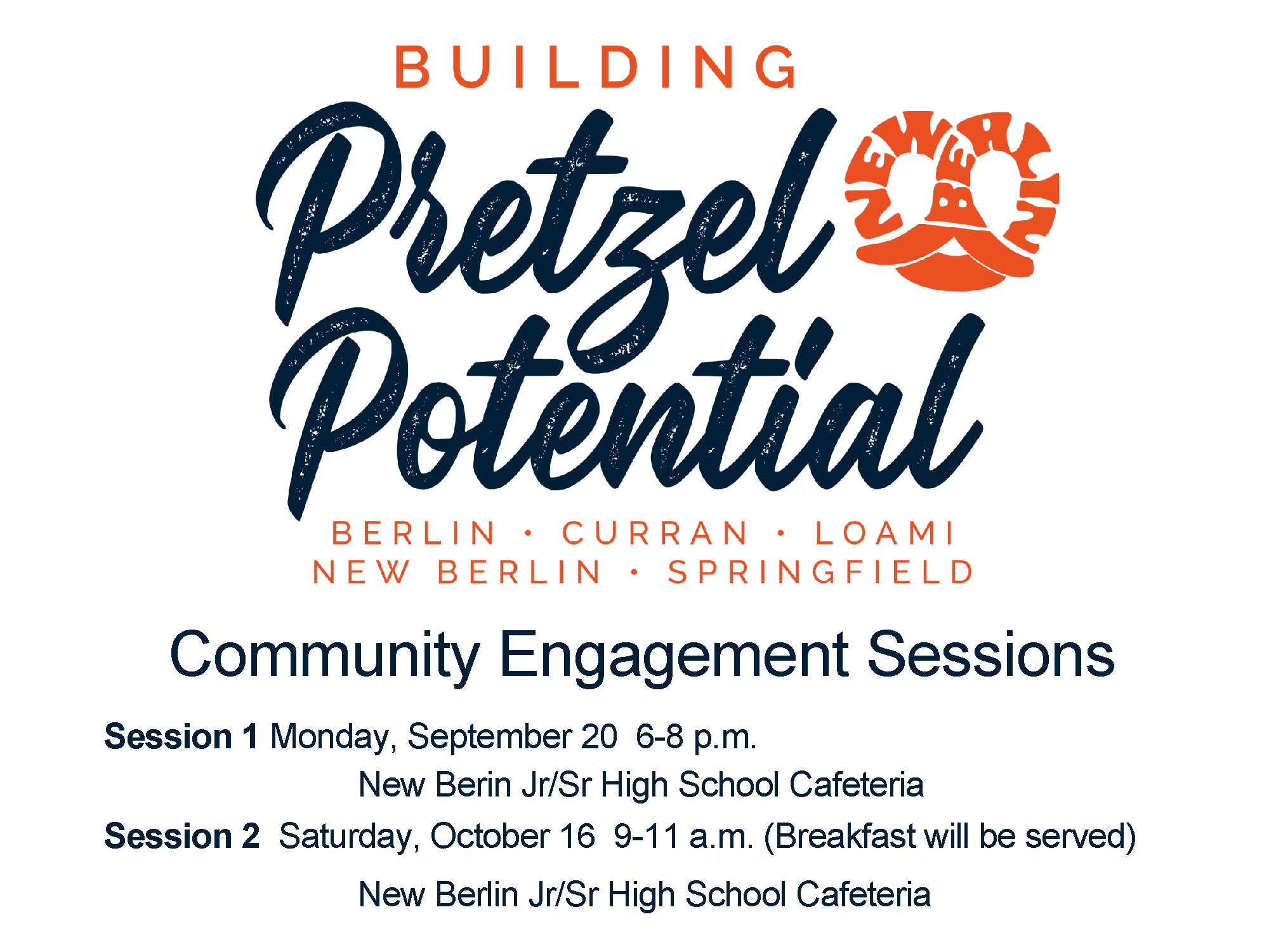Community Engagement Sessions 1 and 2