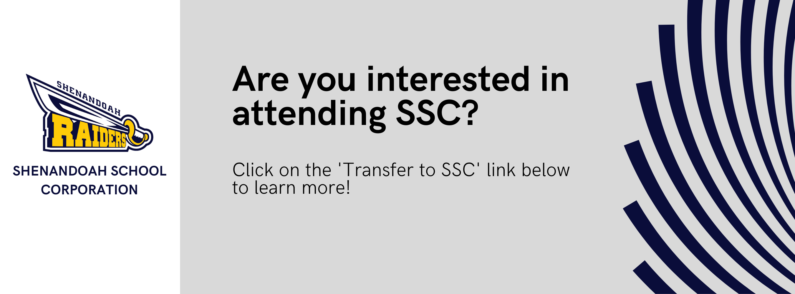 Are you interested in attending SSC? Click on the 'transfer to ssc' link below to learn more.