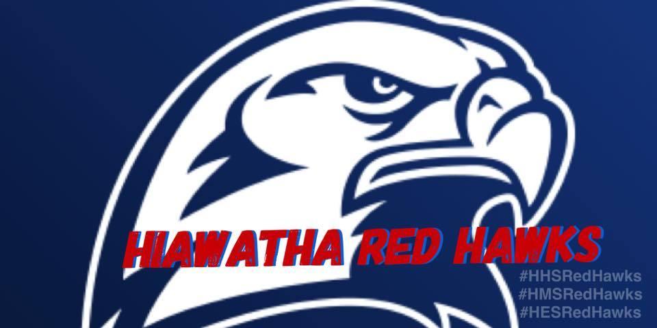 Hiawatha Red Hawk Mascot