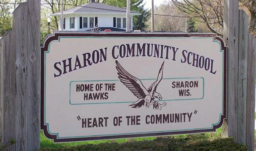 sharon community schools sign