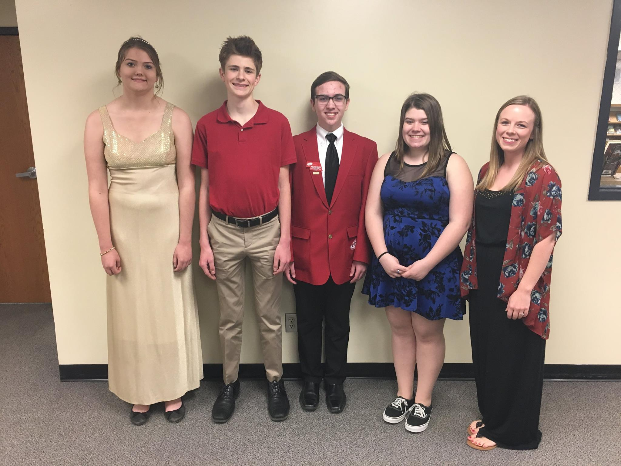 Photo of the chapter officers of the FCCLA organization from 2017 to 2018.