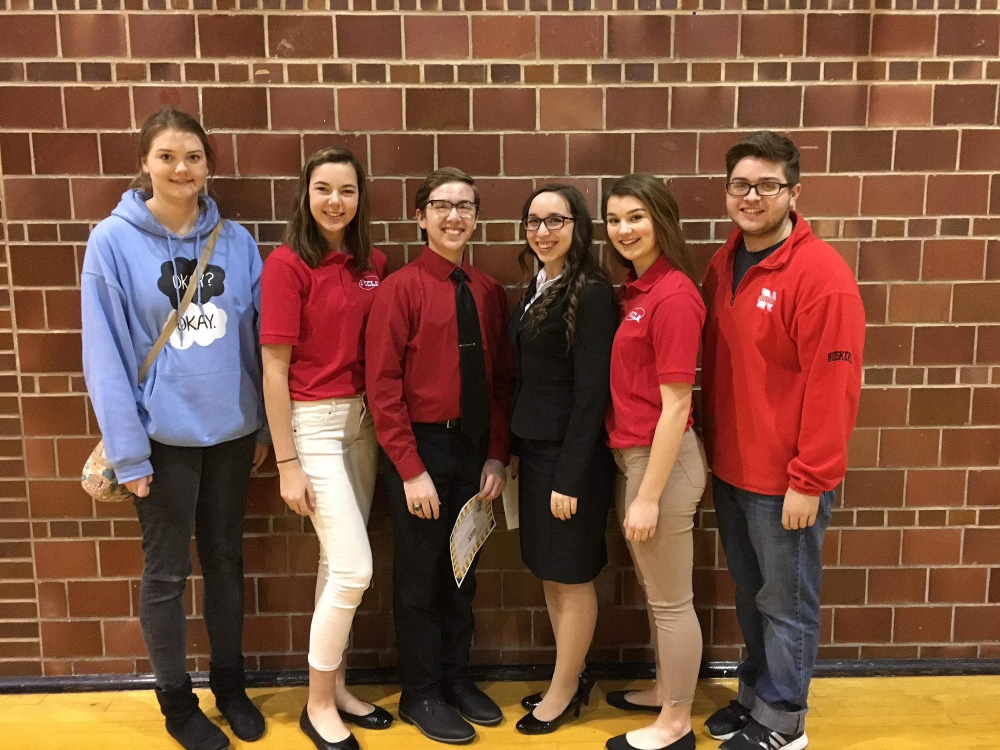 Photo of 6 of the members of the FCCLA group.