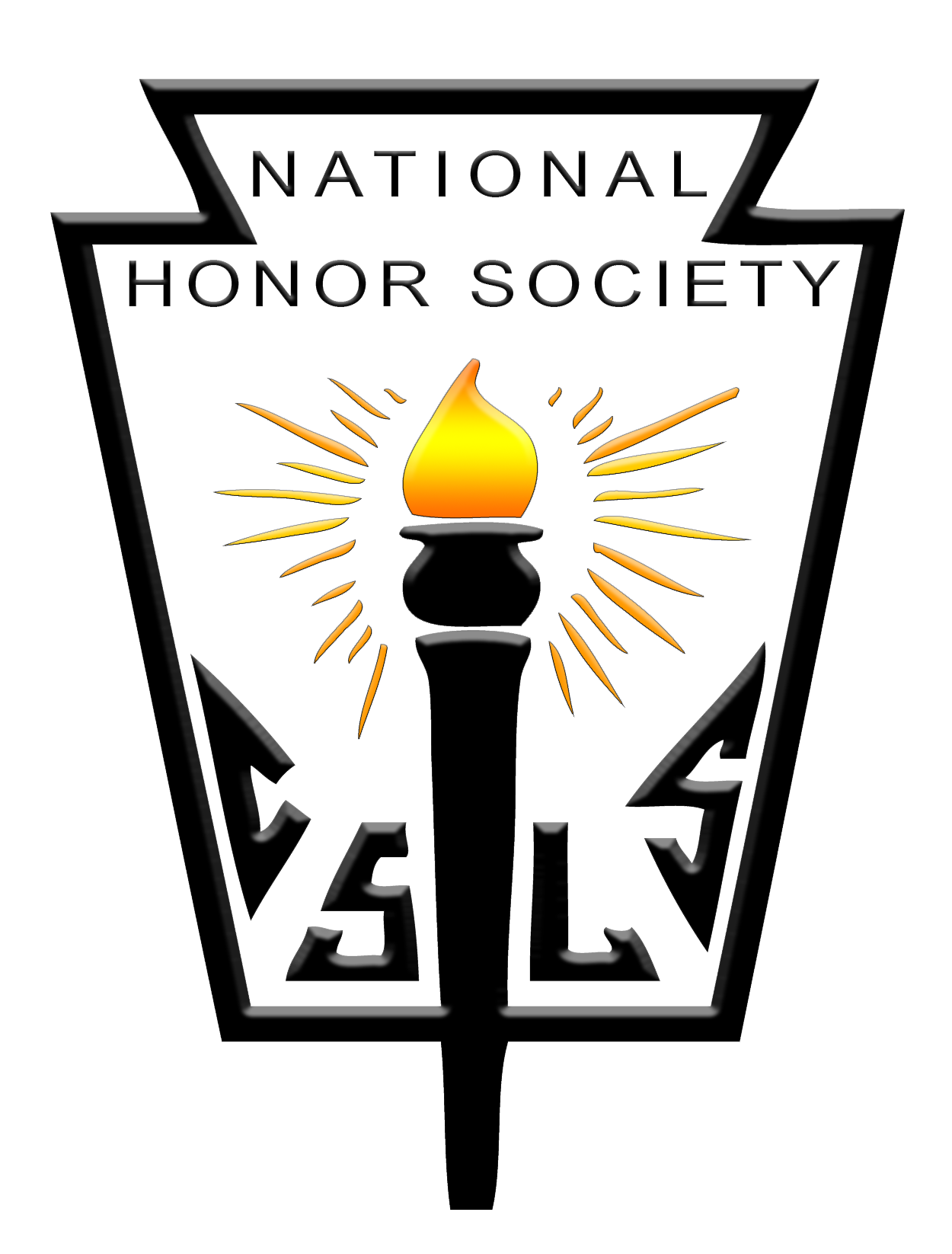 Logo of the group. It's a emblem with a black outline over it and a torch lit up by the center.