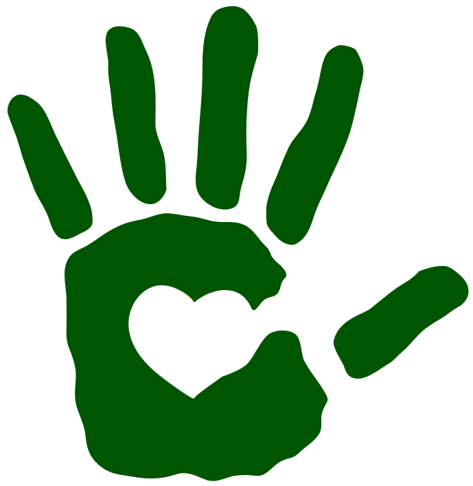 Icon of a hand with a heart.