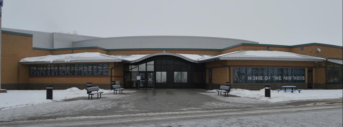 Photo of high school building
