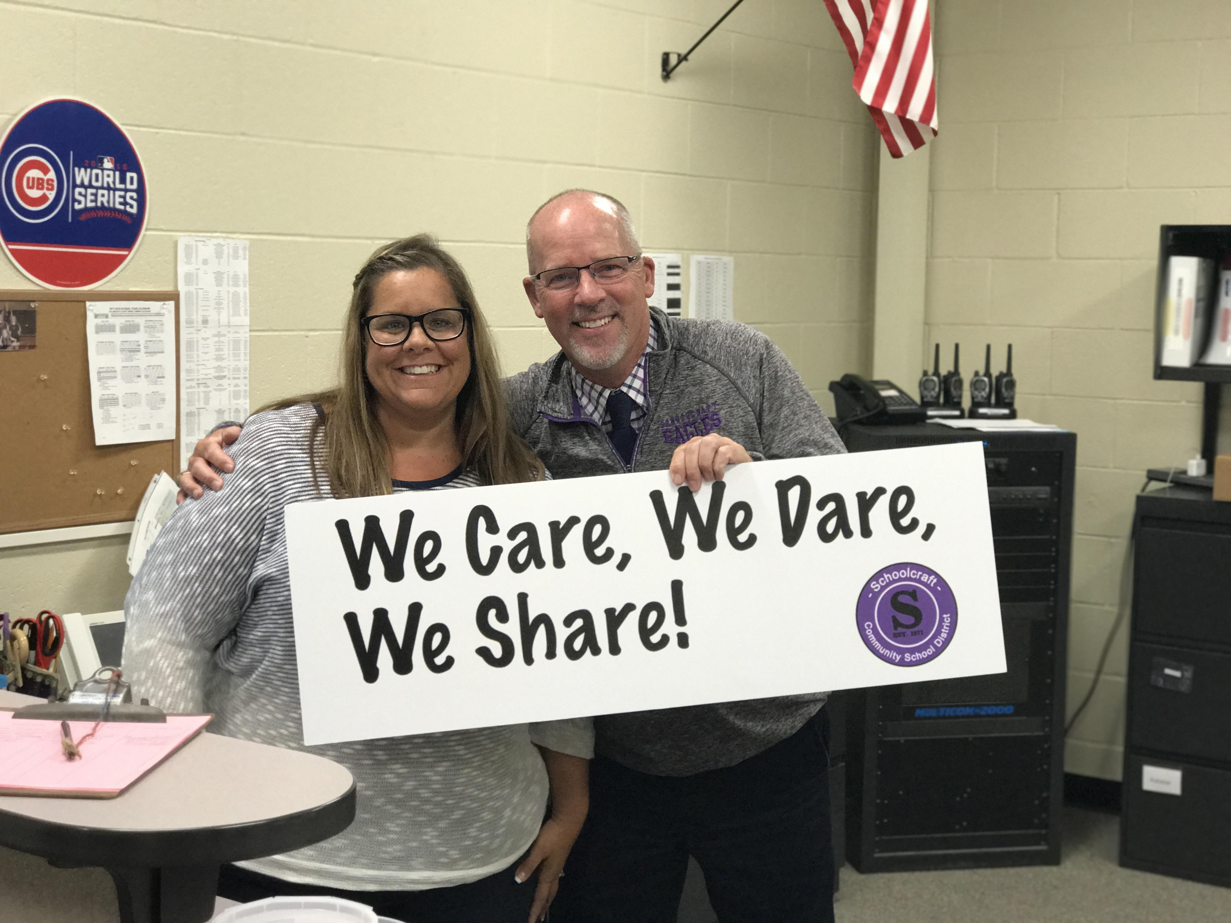 We Care, We Dare, We Share!