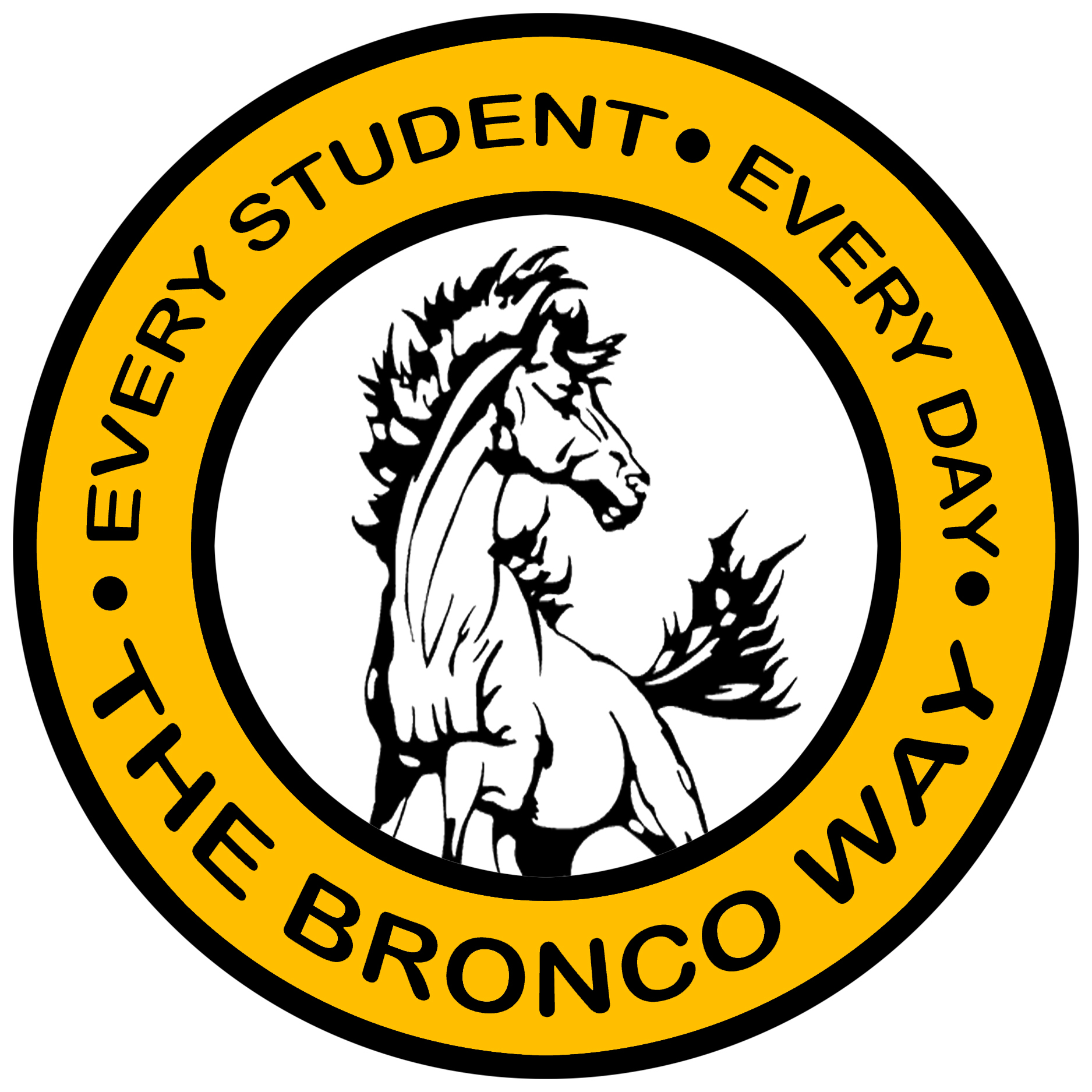 """Logo of """"Every Student. Every Day. The Bronco Way."""""""
