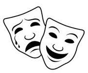Comedy and Tragedy face masks