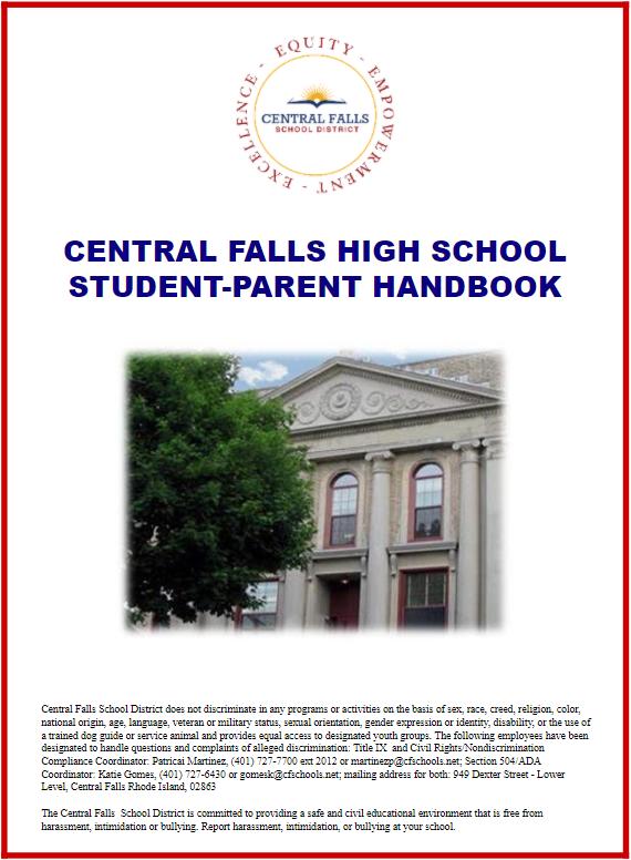 Central Falls High School Student-Parent Handbook