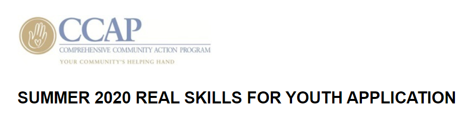 SUMMER 2020 REAL SKILLS FOR YOUTH APPLICATION