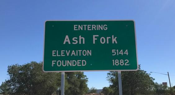 Ash Fork transit sign