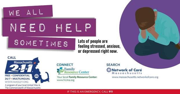 WE ALL NEED HELP SOMETIMES - POSTER