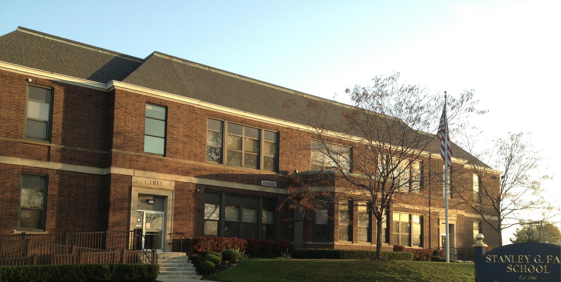 A photo of the Cambridge campus school building