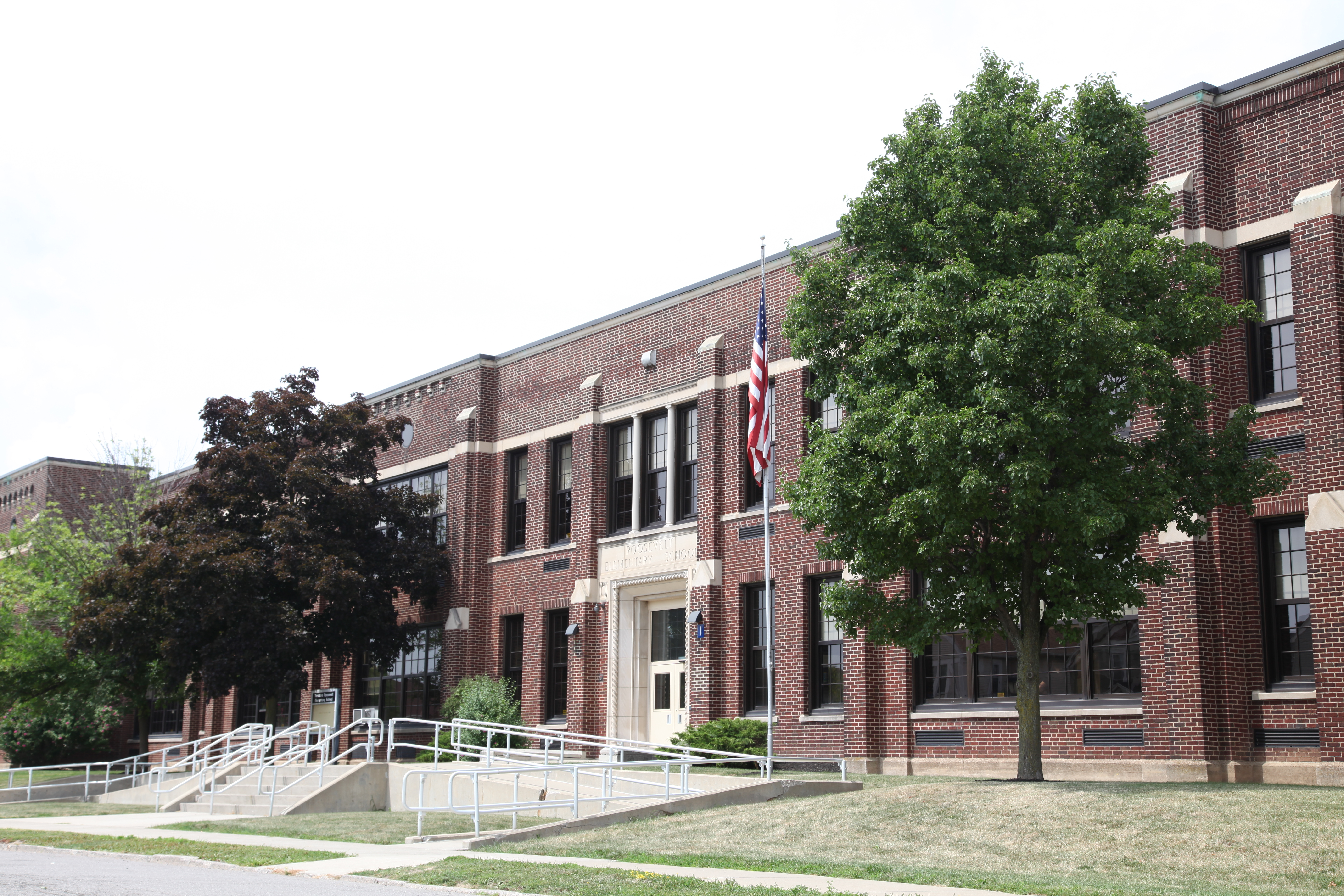 A photo of the Roosevelt campus school building