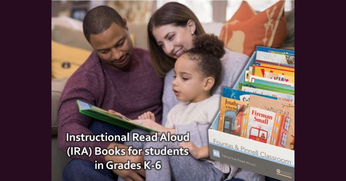 Instructional Read Aloud Books for K-6 Students