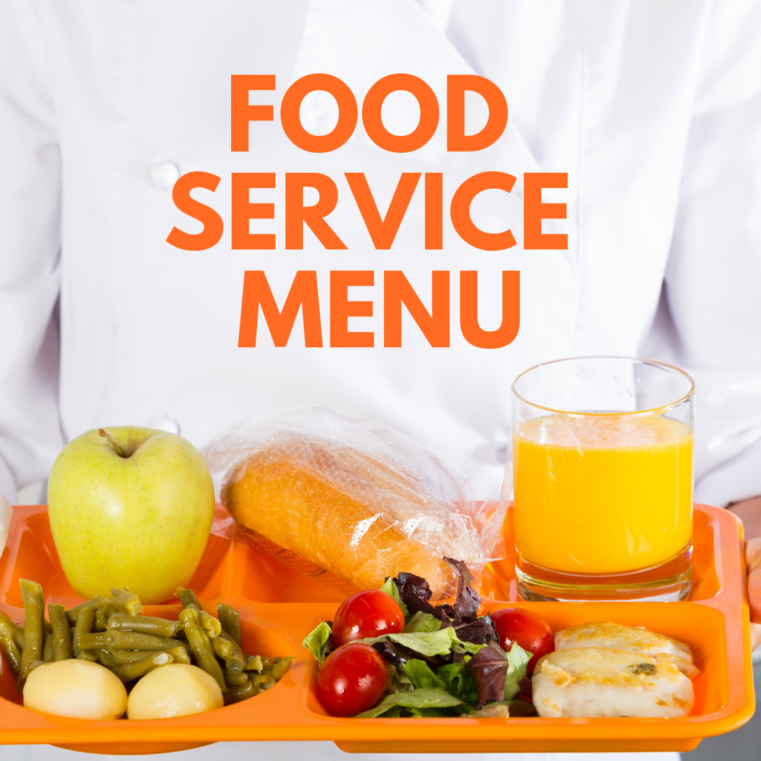 weekly food service menu