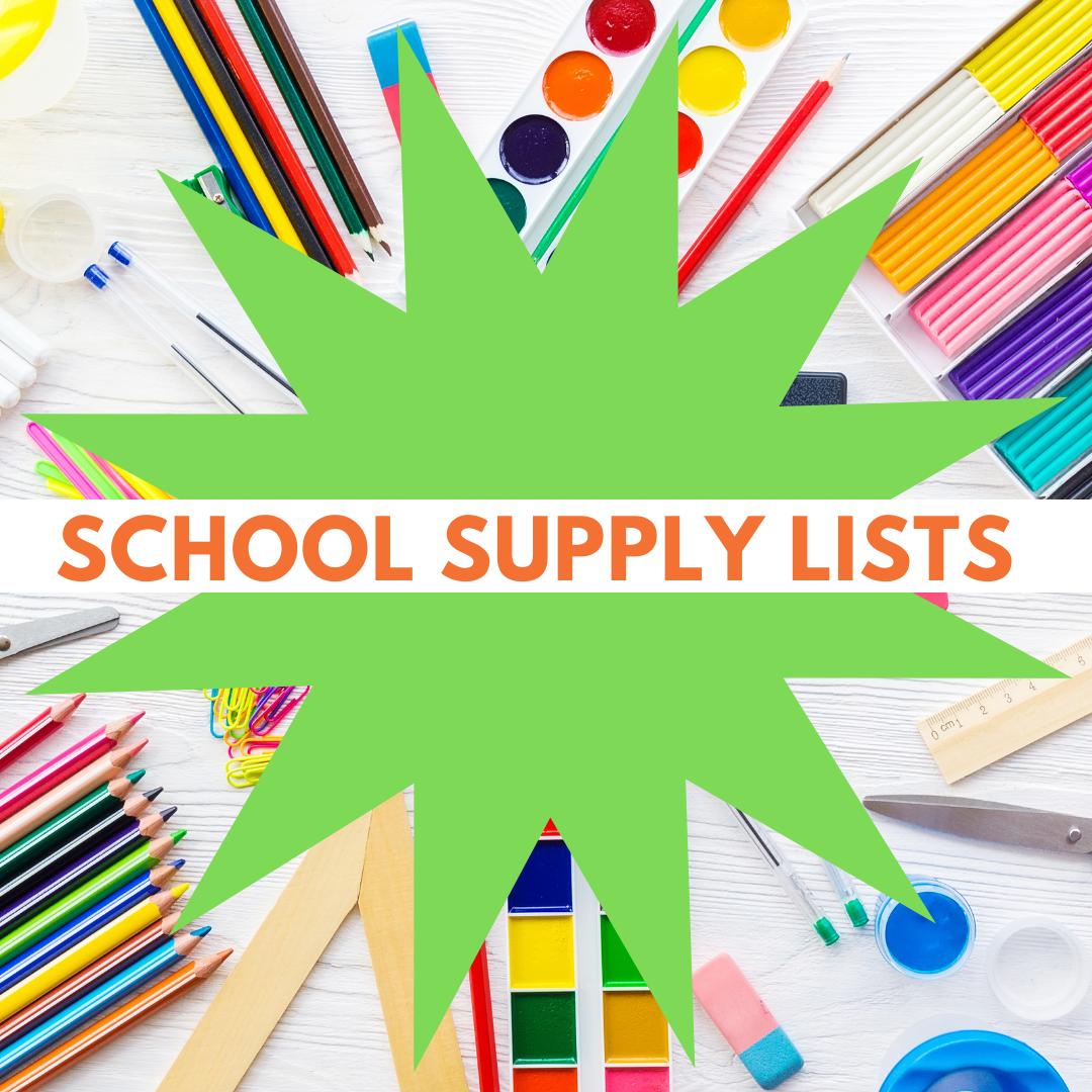 school supply list icon