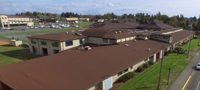 Aerial view of Blaine Elementary School