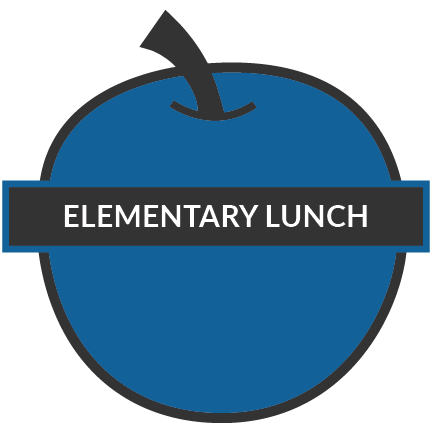 elementary lunch text on a apple