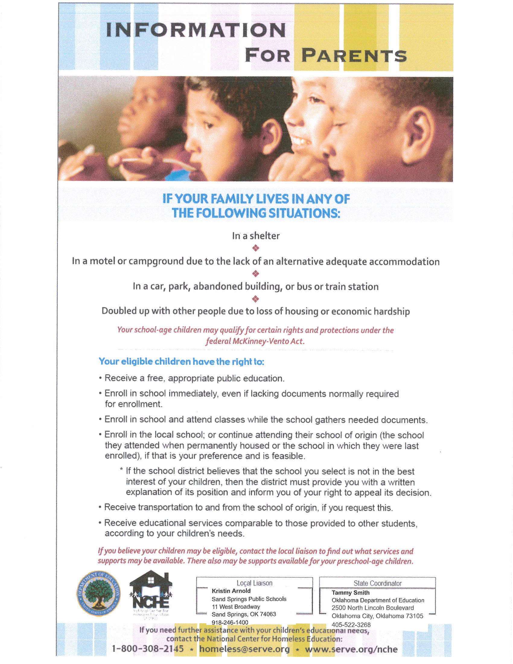 Homelessness Flyer- Parents-English