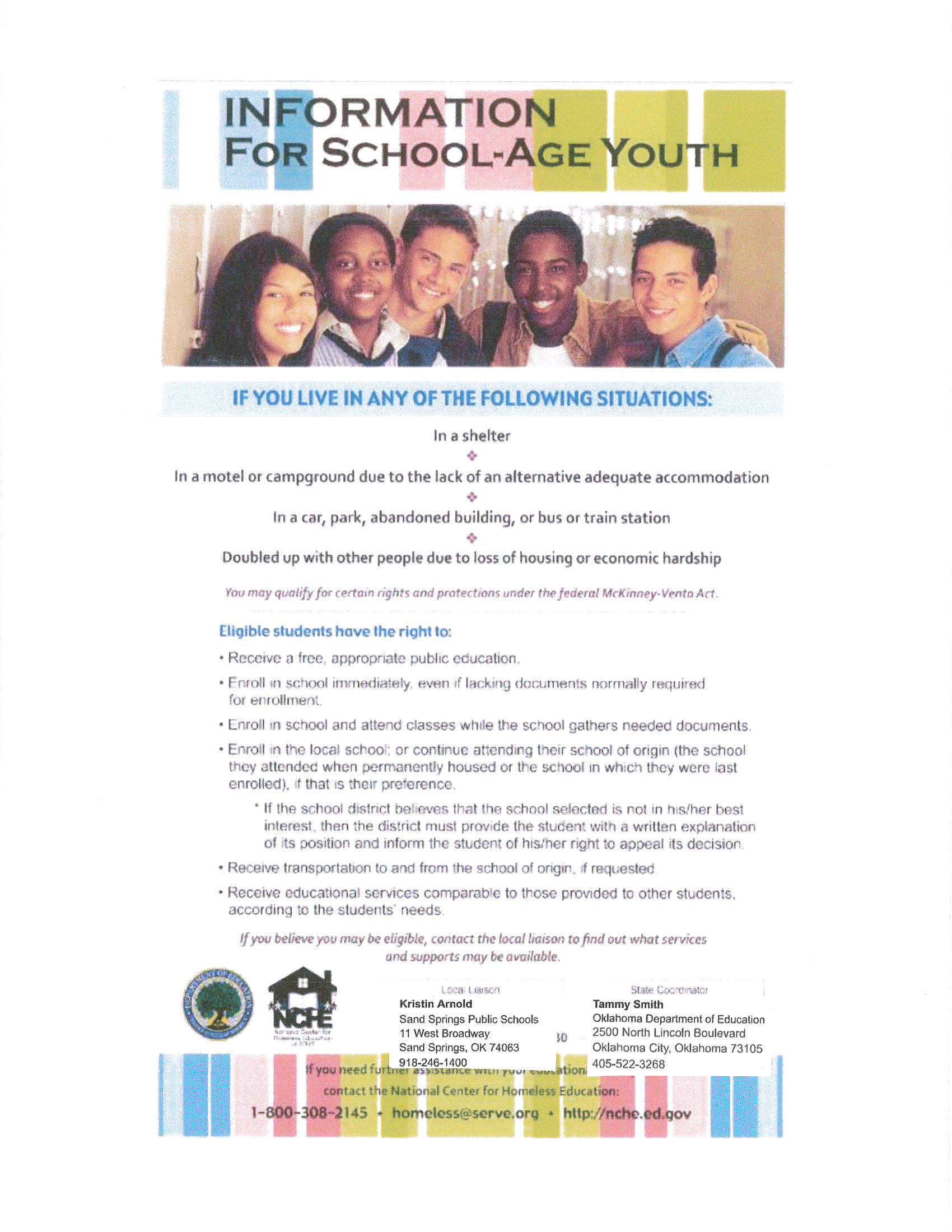 Homeless Youth Flyer- English