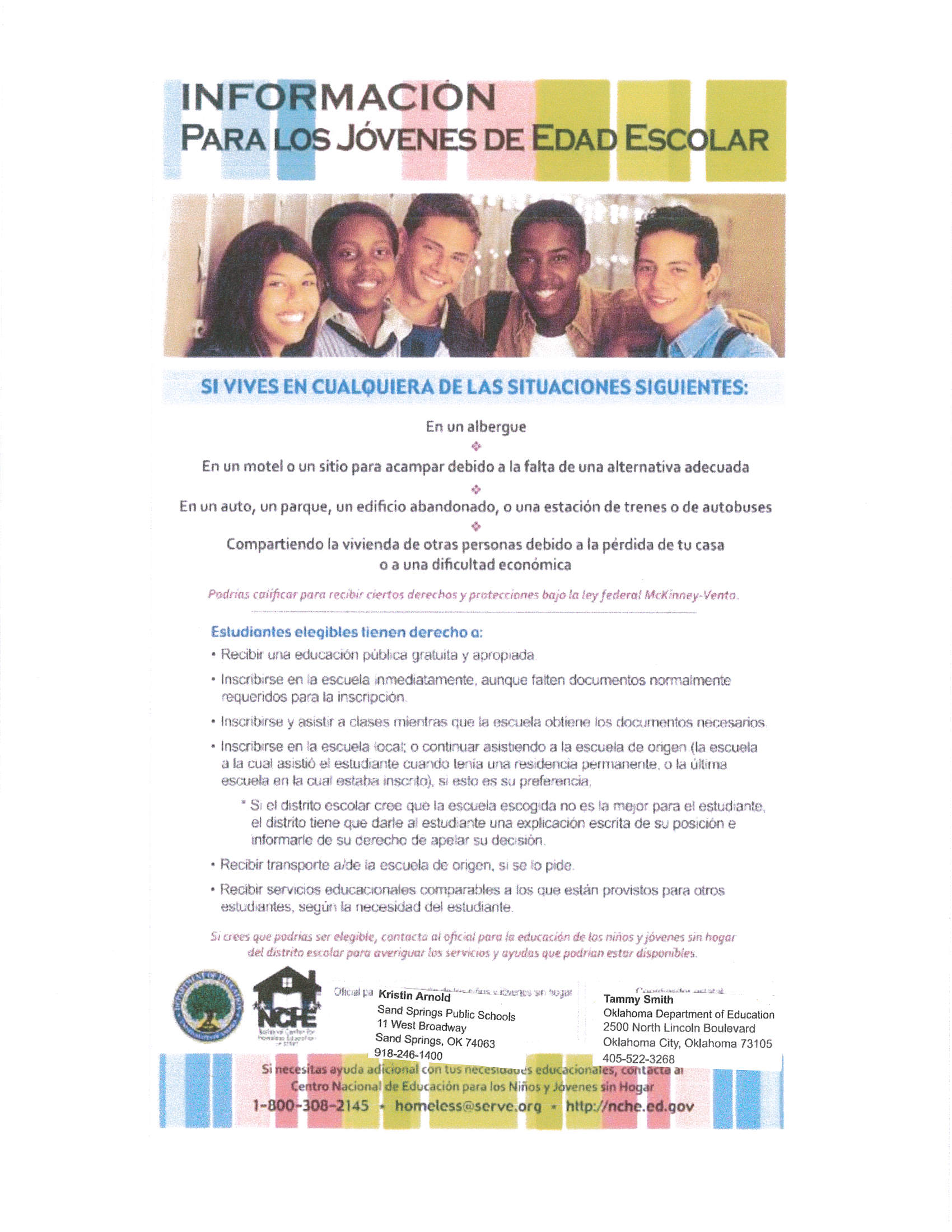 Homeless Youth Flyer- Spanish