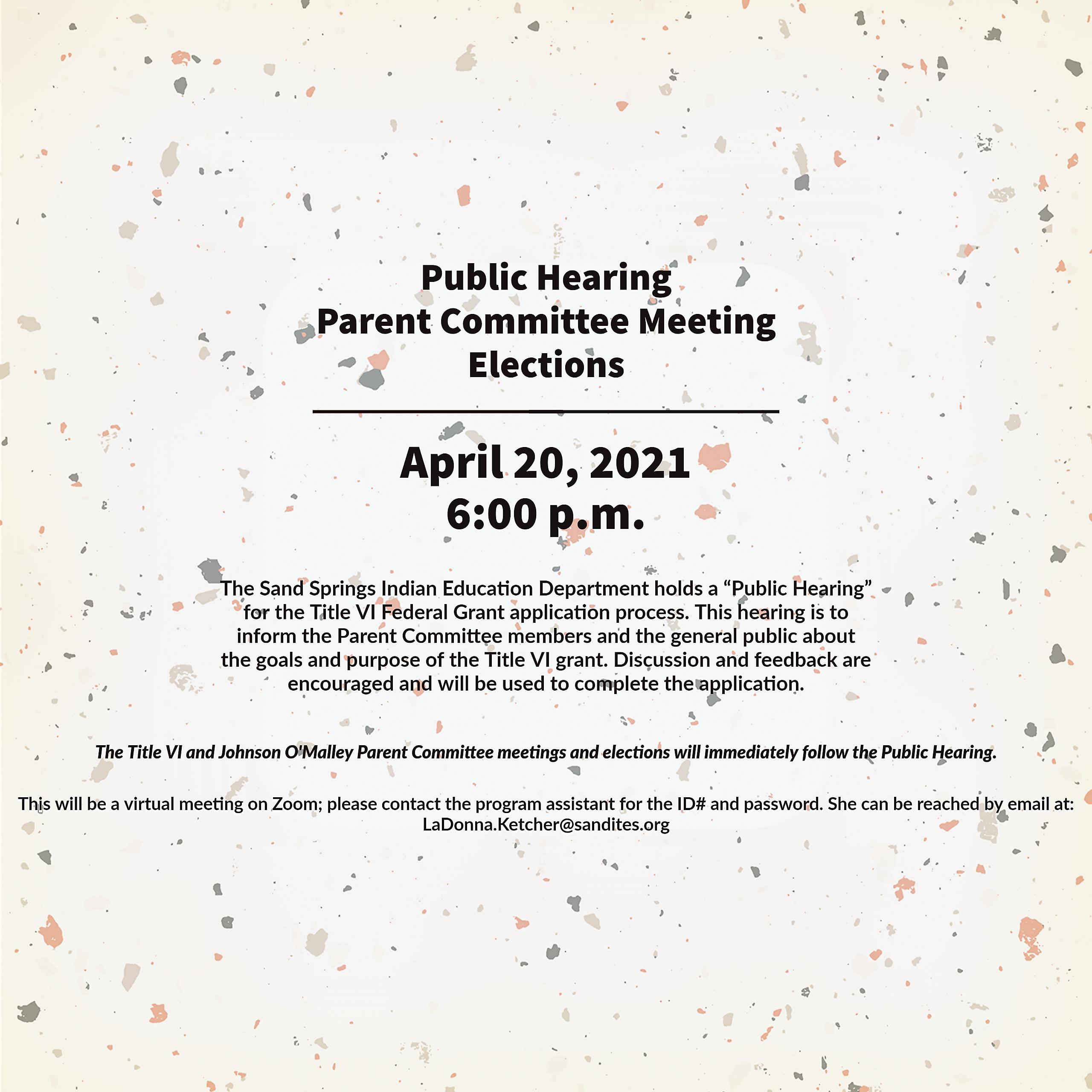 Public Hearing 2021