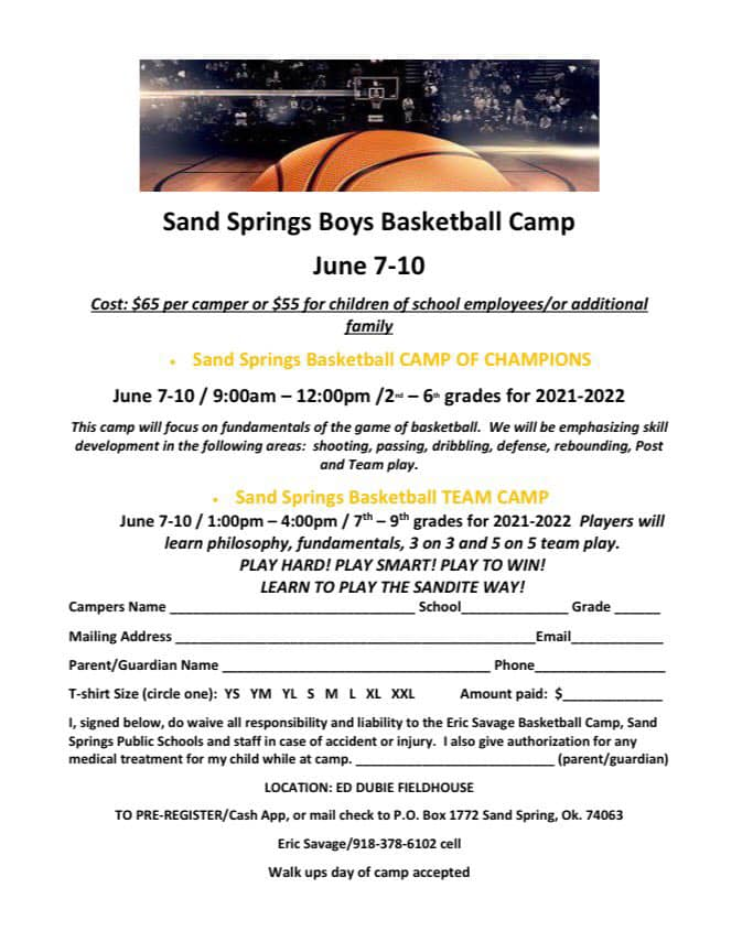 SSPS Boys Basketball Camp