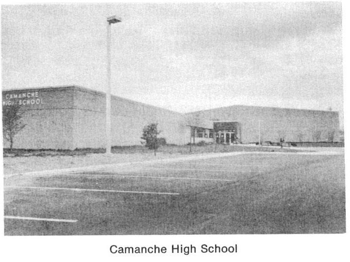 Photo of Camanche High School building.