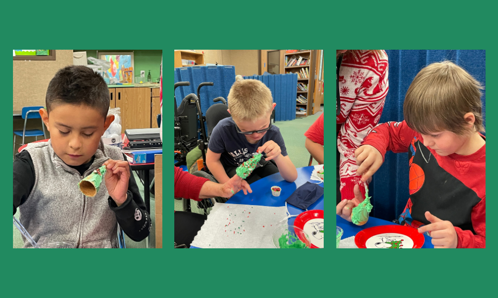 Students doing Christmas Activities