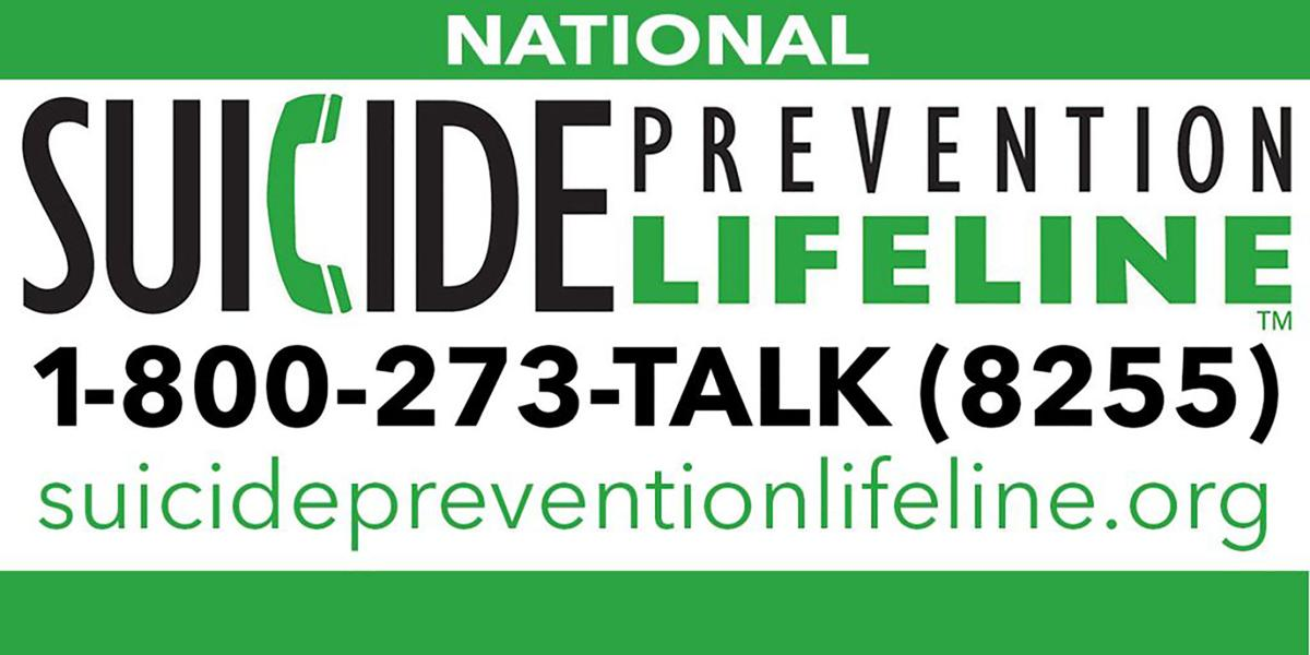 Suicide Prevention Lifeline: 1-800-273-8255