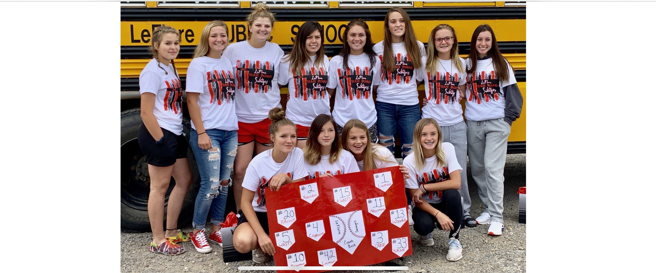 Softball State Send Off