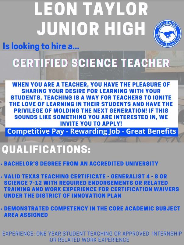 LTJH Science Teacher