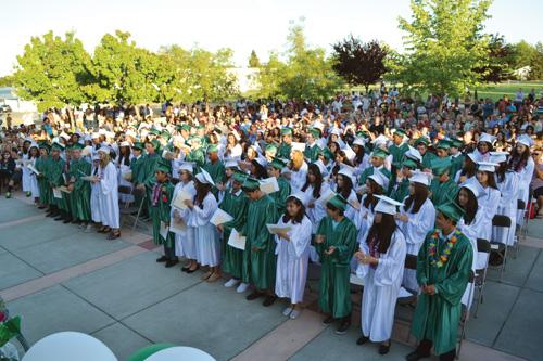 A photo of a graduation.