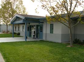 A photo of the Brooks Elementary school.