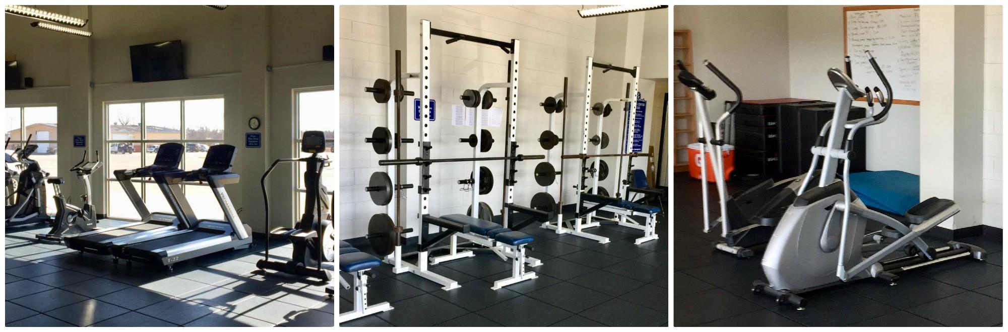 Photos of the wellness facility.