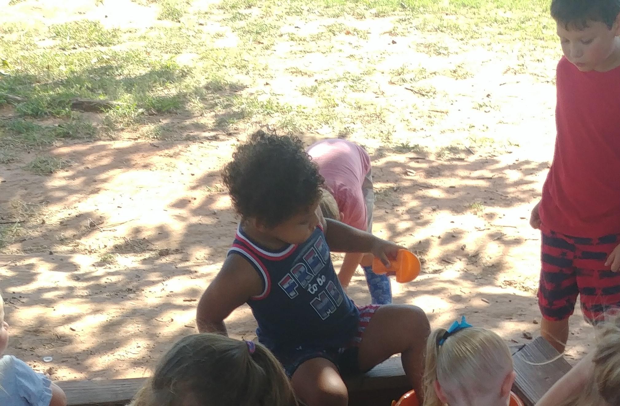 Enjoying recess