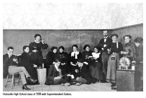 Photo of a High School class in 1896 along with Superintendent Salters.