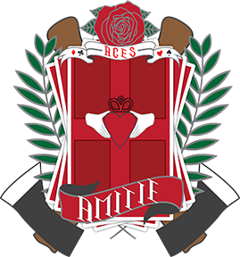 An emblem of the school.