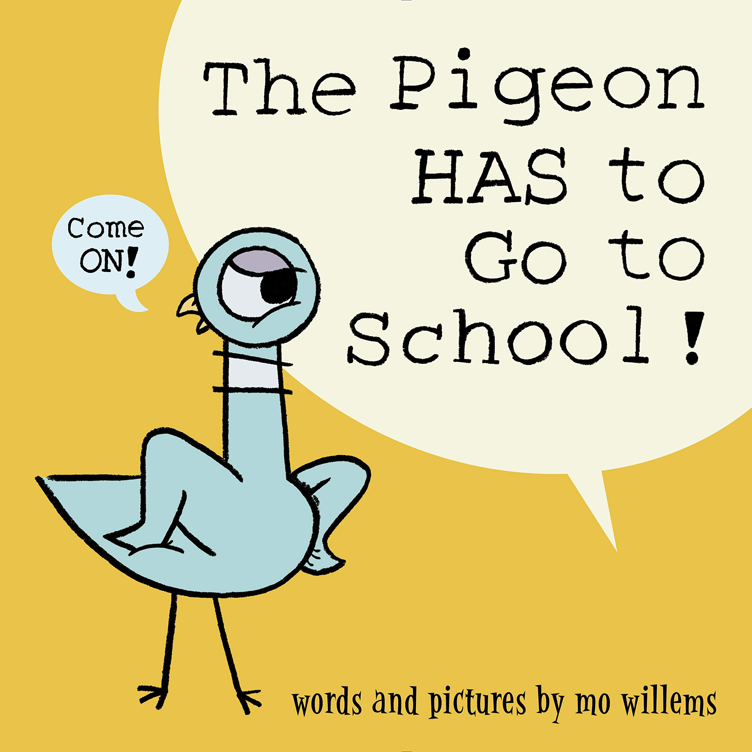 "photo of the book ""the pigeon has to go to school"""
