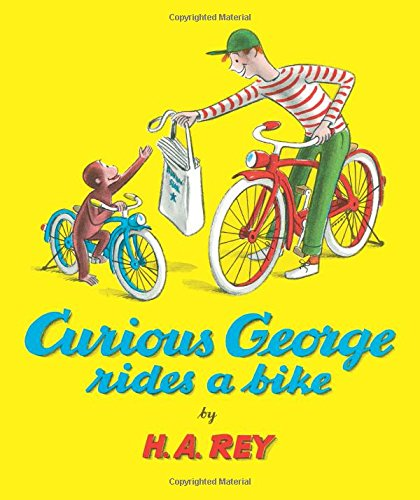 "photo of the book ""curious george rides a bike"""