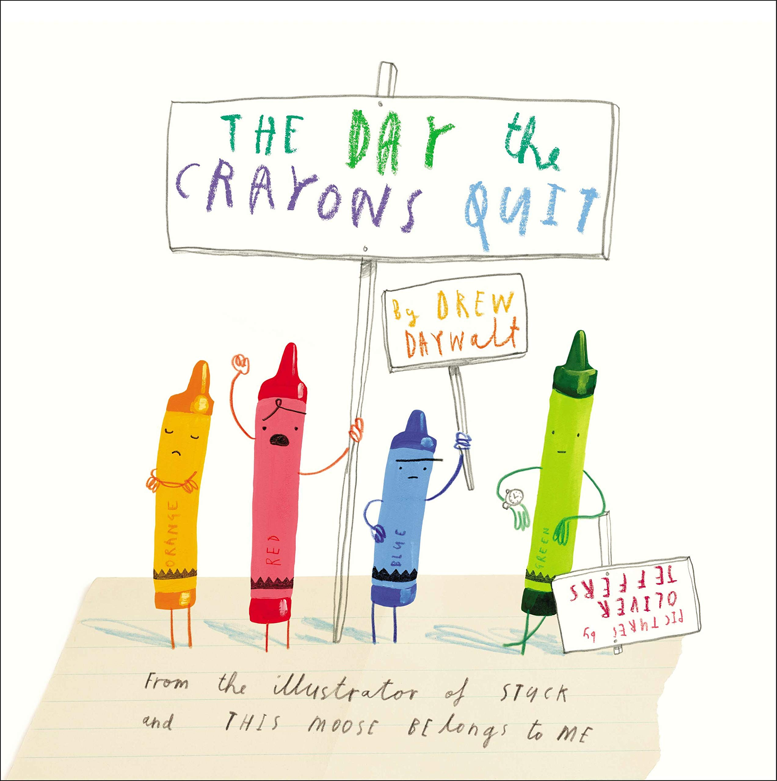 "photo of the book ""the day the crayons quit"""