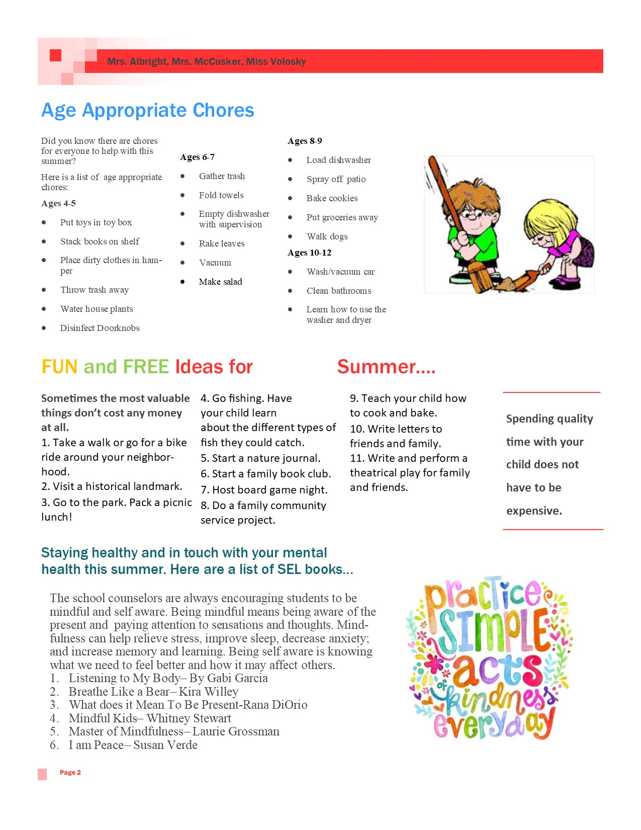 photo of age appropriate chores guide