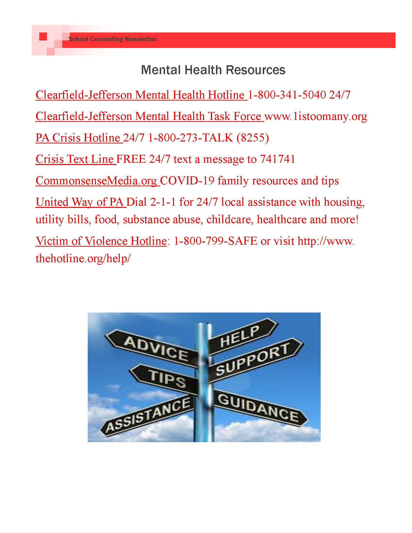 mental health resources