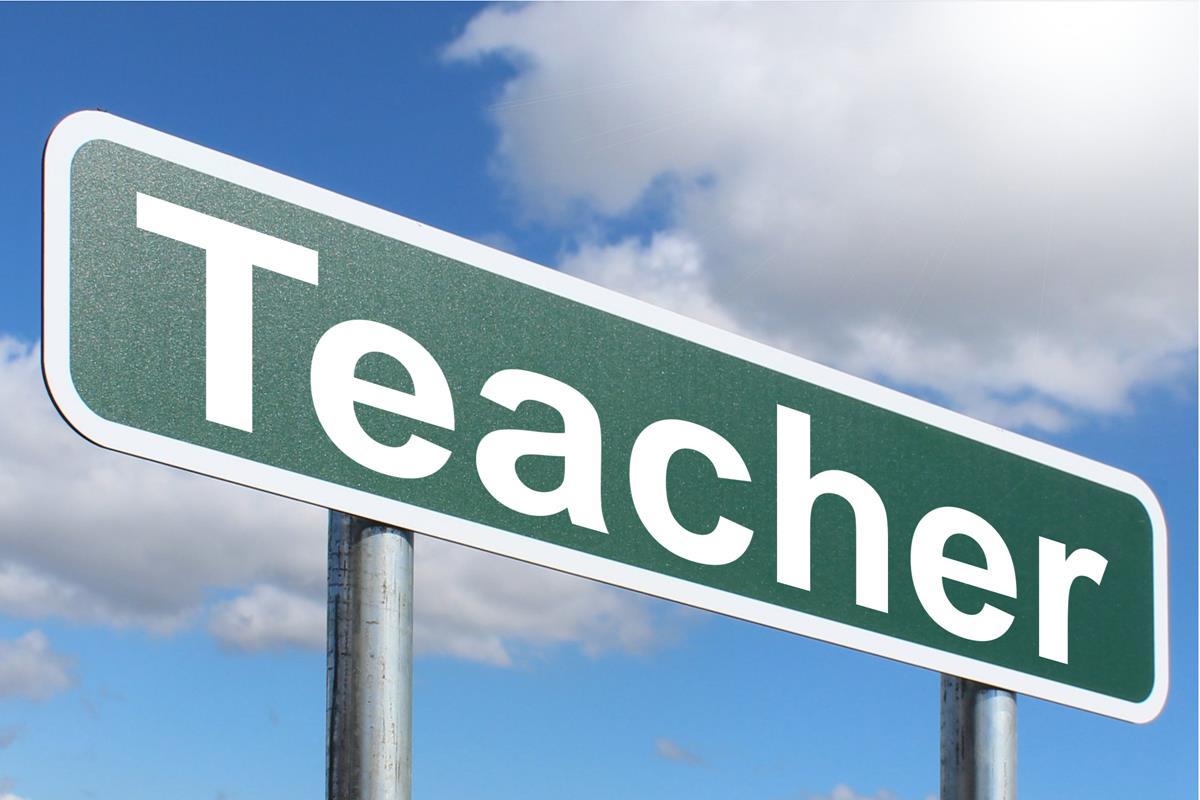 teachers sign