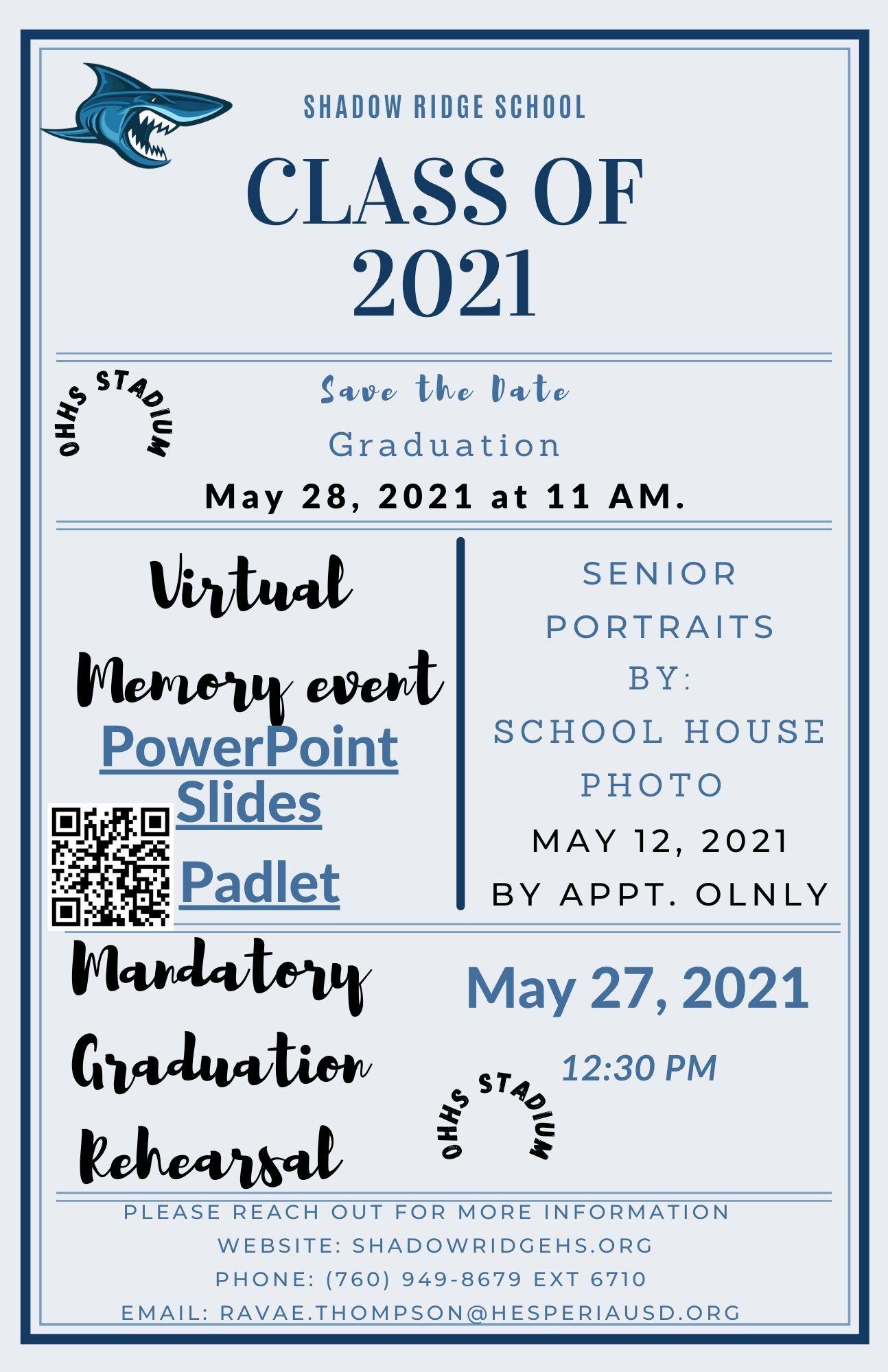Class of 2020 Info