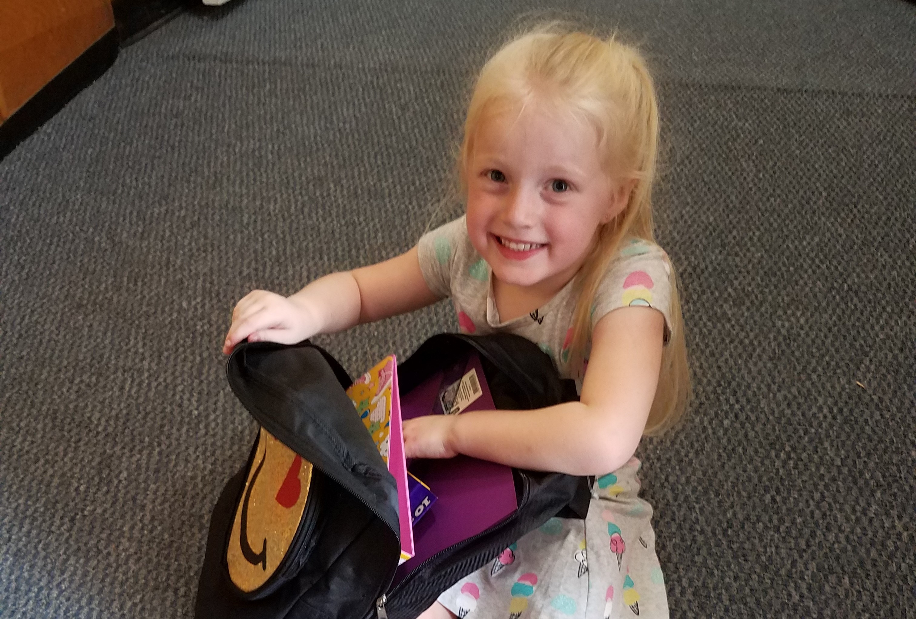 Students were able to choose a backpack and fill it with school supplies at the Expo!